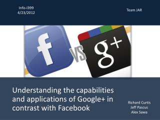 Understanding the capabilities and applications of Google+ in contrast with Facebook