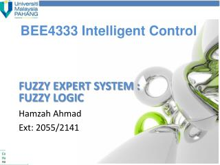 BEE4333 Intelligent Control