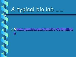 A typical bio lab ……