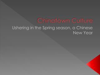 Chinatown Culture