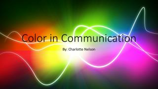 Color in Communication