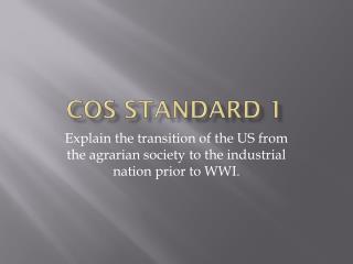 COS Standard 1