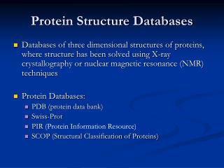 Protein Structure Databases