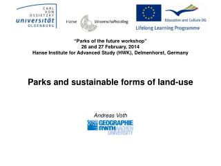 Parks and sustainable forms of land-use