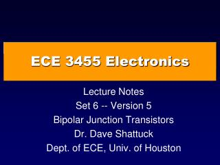 ECE 3455 Electronics