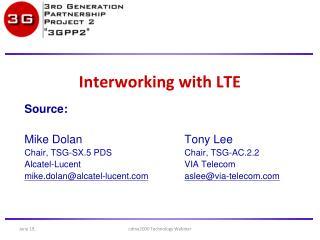 Interworking with LTE