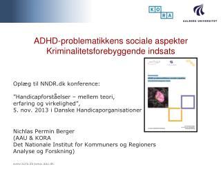 ADHD-problematikkens sociale aspekter Kriminalitetsforebyggende indsats
