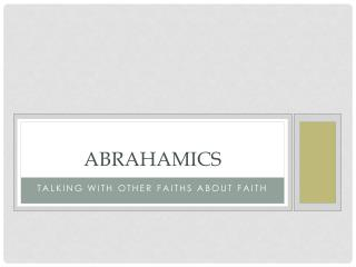Abrahamics
