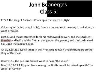 John  Boanerges Class 5