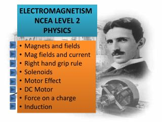 ELECTROMAGNETISM NCEA LEVEL 2 PHYSICS