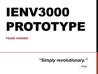 IENV3000 Prototype