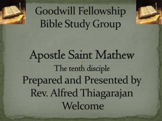 Goodwill Fellowship Bible Study Group