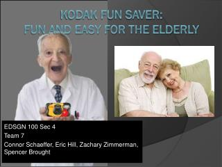 Kodak Fun Saver: Fun and easy for the elderly