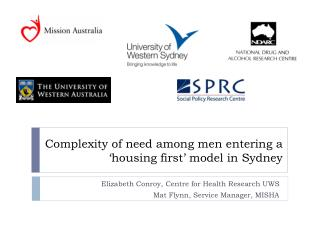 Complexity of need among men entering a 'housing first' model in Sydney