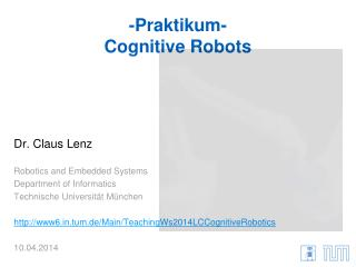 - Praktikum - Cognitive Robots