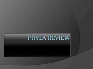 Phyla Review