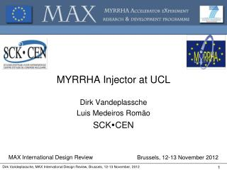 MYRRHA  Injector at  UCL