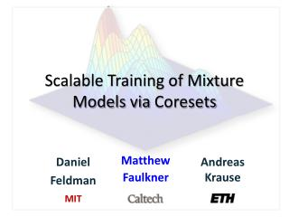 Scalable Training of Mixture Models via  Coresets