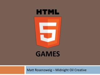 Matt  Rosenzweig  – Midnight Oil Creative
