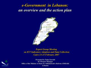 E-Government  in Lebanon:  an overview and the action plan