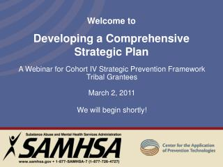 Welcome to  Developing a Comprehensive Strategic Plan
