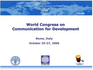 World Congress on             Communication for Development