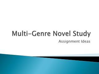 Multi-Genre Novel Study