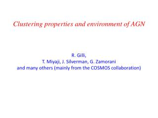 Clustering properties  and  environment of  AGN