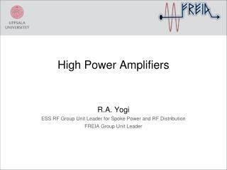 High Power  A mplifiers