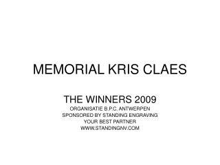 MEMORIAL KRIS CLAES