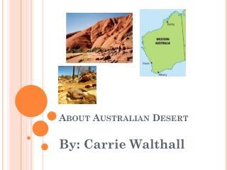 About Australian Desert