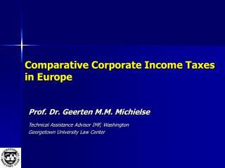 Comparative Corporate Income Taxes in Europe