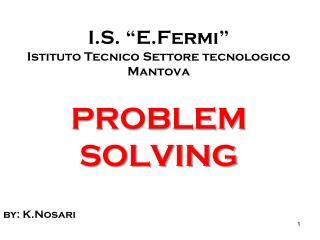 """I.S.  """" E.Fermi """" Istituto Tecnico Settore tecnologico Mantova"""