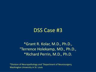 DSS Case #3