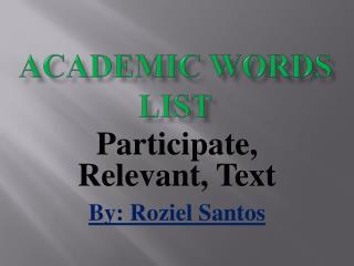 Academic Words List