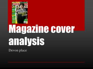 Magazine cover analysis