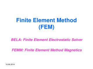 Finite Element Method FEM