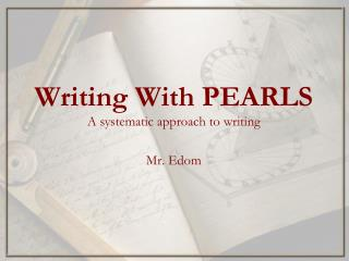 Writing With PEARLS