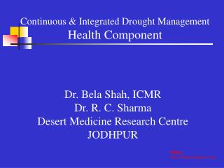 Continuous  Integrated Drought Management Health Component
