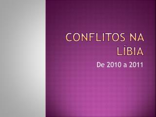Conflitos na líbia