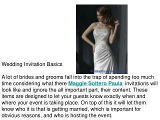 Wedding Invitation Basics
