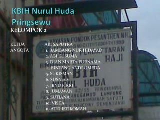 KBIH  Nurul  Huda Pringsewu