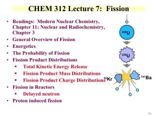 CHEM 312 Lecture 7:  Fission