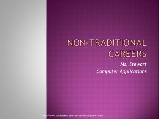 Non-Traditional Careers