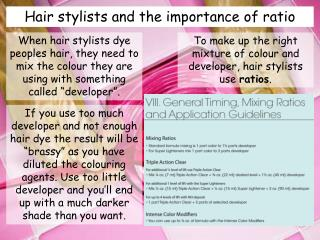Hair stylists and the importance of ratio