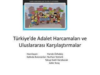 Türkiye'de Adalet Harcamaları ve Uluslararası Karşılaştırmalar