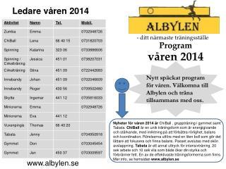 Program våren 2014