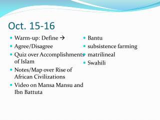 Oct. 15-16