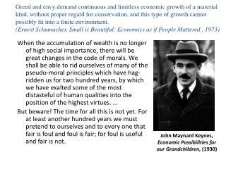 John Maynard Keynes, Economic Possibilities for our Grandchildren,  (1930)