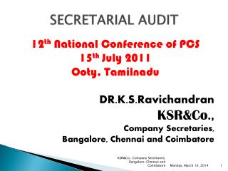 SECRETARIAL AUDIT